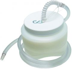 Nu-Hope - 4006 - Fecal Drainage Collection Bottle with 5 ft. Tubing 1 Gallon