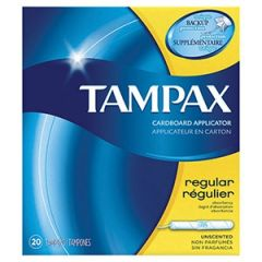 Procter & Gamble - 7301028012 - Tampax Tampons, Regular, 20/bx, 24bx/cs **Inventory Available while Supplies Last, then Item will be Temporarily Unavailable for Sale with No Expected Release Date**