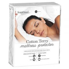 Pure Care - From: SG33 To: SG80 - Stainguard Cotton Terry 1-sided Mattress Protector
