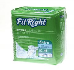 Medline From: FITEXTRALG To: FITEXTRAXXL - Fitright Extra Briefs, Cloth-Like